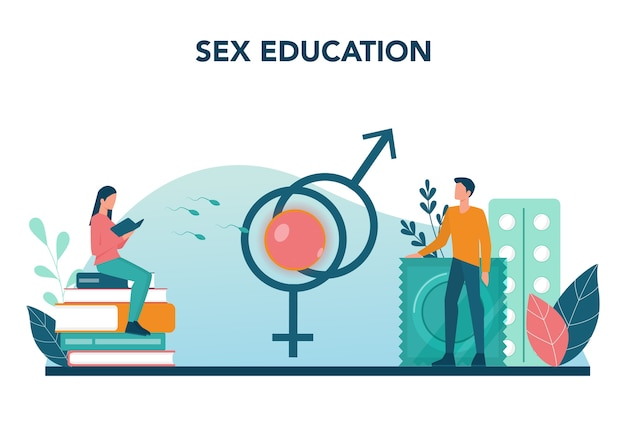 Sexual education concept