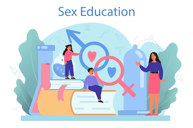 성적 교육 개념.