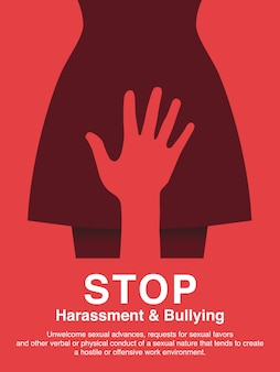 Sexual harassment and workplace bullying concept poster.