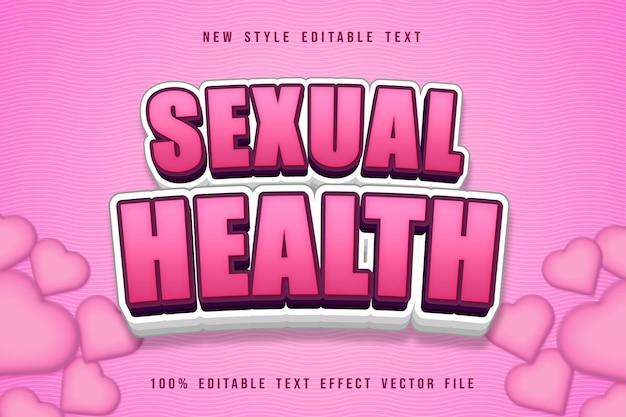 Sexual health editable text effect cartoon cute style