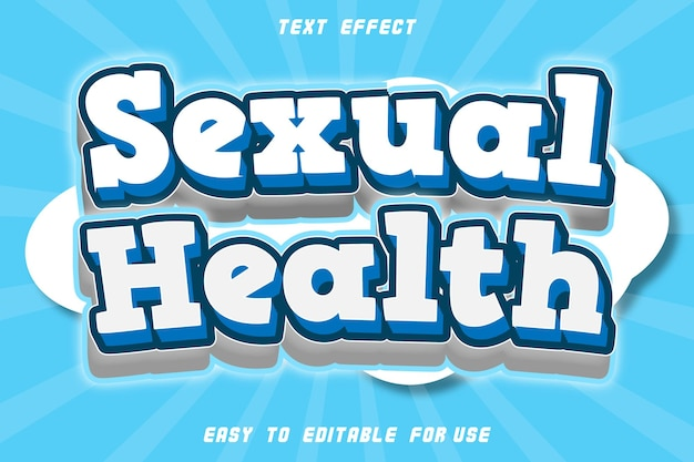 Sexual health editable text effect comic style