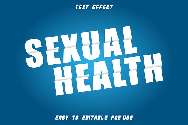 Sexual health editable text effect slice style