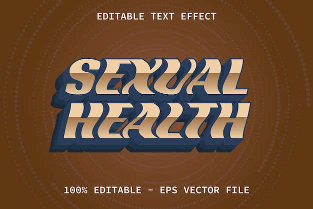 Sexual health with modern style editable text effect