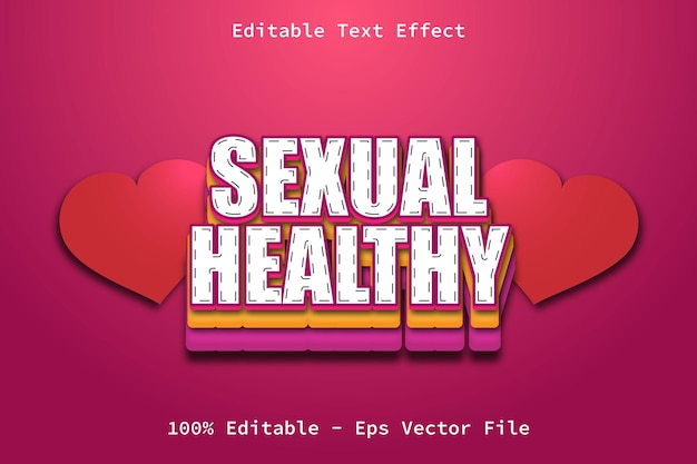Sexual healthy cartoon style text effect
