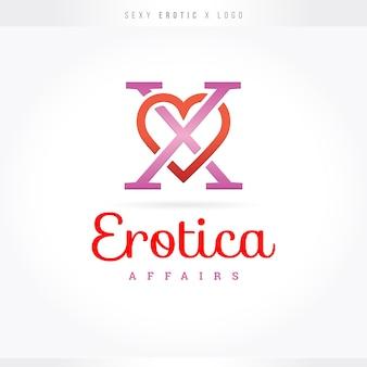 Логотип sexy erotic x