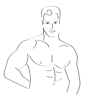 섹시한 남자 스케치