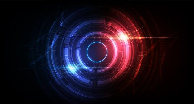 抽象的なサークルsf未来的な技術革新の背景