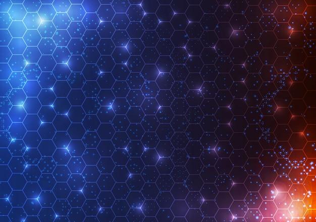 抽象的なサークルsf未来的な技術革新の概念の背景