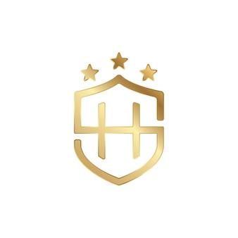 Sh shield логотип золото 3d