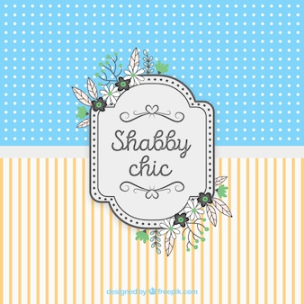 Shabby chic card background
