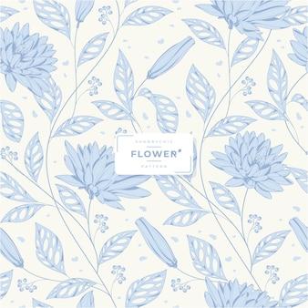 Shabby chic flower seamless pattern