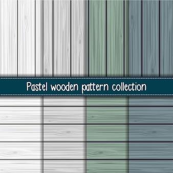 초라한 세련된 회색, 세이지 및 블루 원활한 나무 패턴 컬렉션
