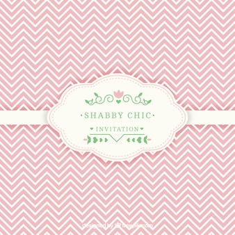 Shabby chic invitation card