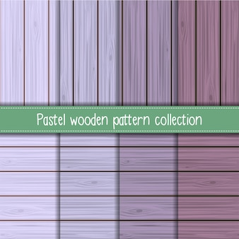 Shabby chic lavender seamless wooden pattern collection