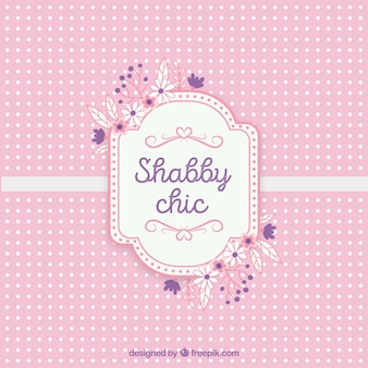 Shabby chic text card