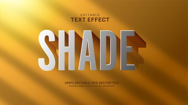 Shade text effect