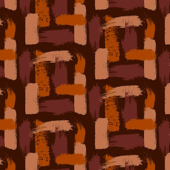 Shades of brown brush strokes seamless pattern