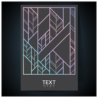 Shades of geometric holographic futuristic holographic poster with gradient mesh