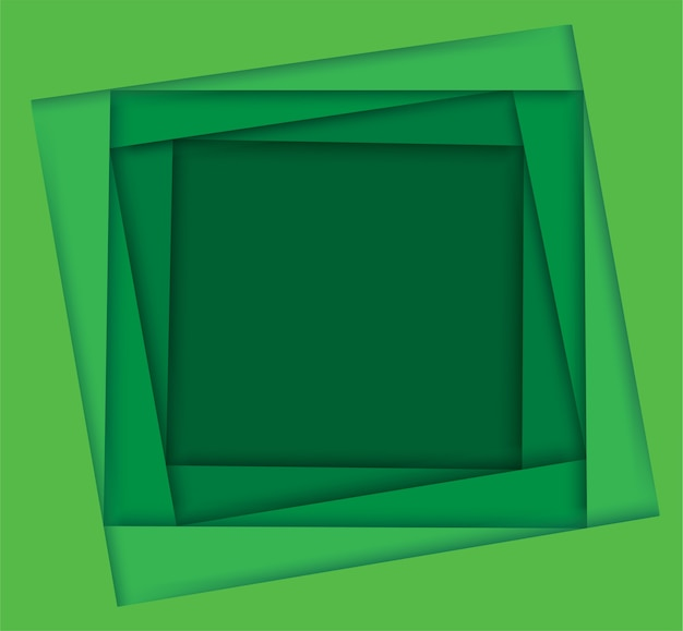 Shades of green square background