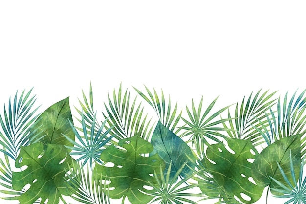 Shades of green tropical mural wallpaper