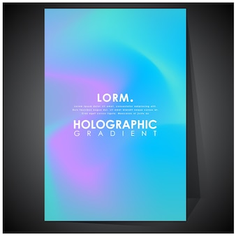 Shades of holographic futuristic holographic poster with gradient mesh