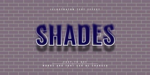 Шаблон редактируемого текстового эффекта shades illustrator