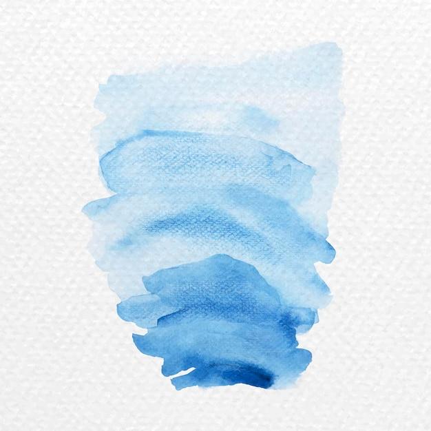 青い水彩ブラシストロークベクトルの色合い