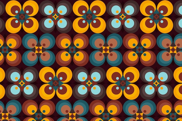 茶色の幾何学的なグルーヴィーなパターンの色合い
