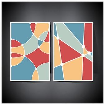 그라디언트 메쉬가 있는 기하학적 홀로그램 미래형 홀로그램 포스터의 음영