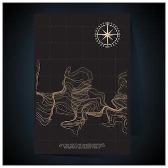 グラデーションメッシュのゴールドの幾何学的なポスターの色合い