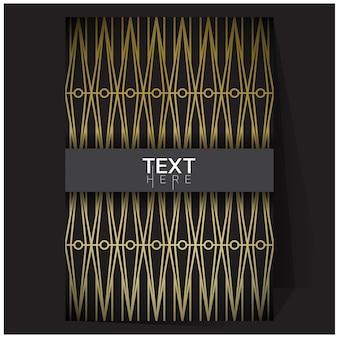 Оттенки золотого геометрического плаката с градиентной сеткой