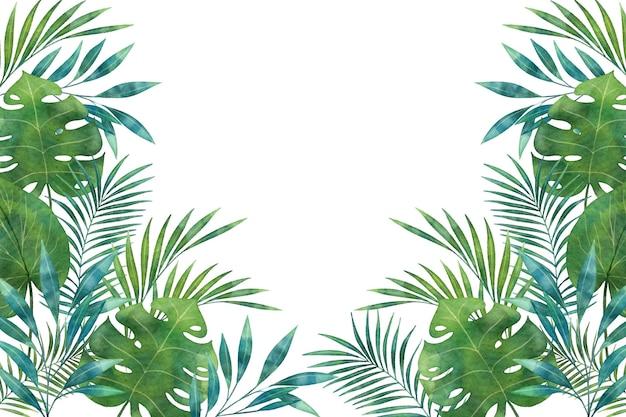 緑の熱帯壁画壁紙コピースペースの色合い