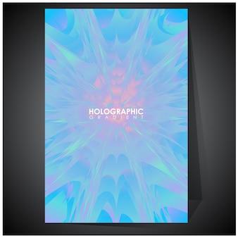 グラデーションメッシュのホログラフィック未来的なホログラフィックポスターの色合い
