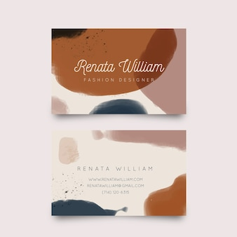 Shades of pastel brown stains business card