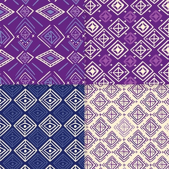 Shades of purple songket seamless pattern template