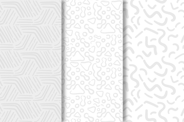 Shades of white lines seamless pattern template