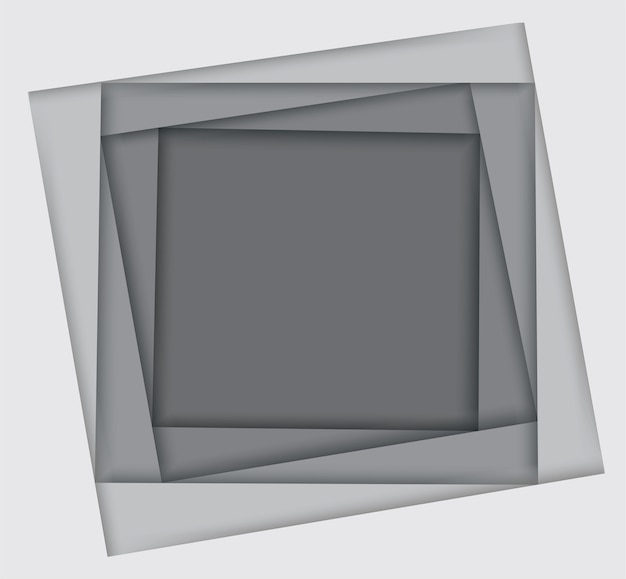 Shades of white square background