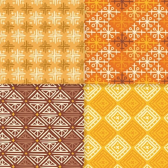 Shades of yellow songket seamless pattern template