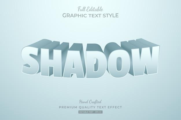 Shadow 3d blend editable text style effect