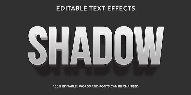 シャドウ3dスタイルの編集可能なテキスト効果