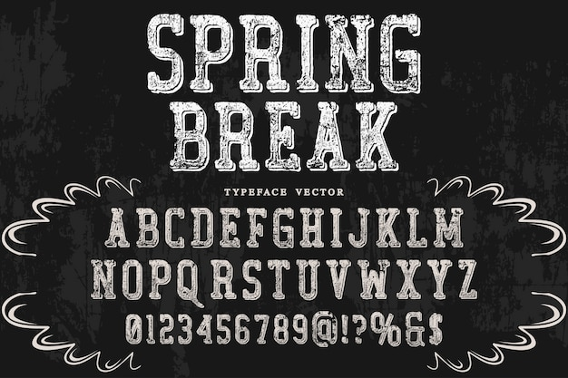Shadow effect alphabet design spring break