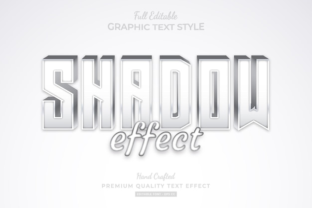 Shadow effect editable premium text effect font style