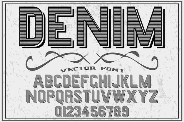 Типография shadow effect дизайн шрифта джинсовая