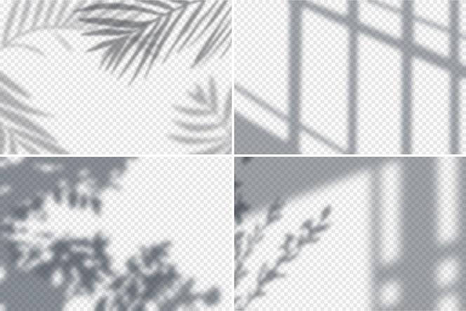 Рамки с эффектами тени реалистичные прозрачный набор изолированных иллюстрация