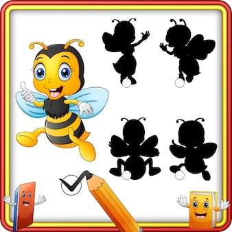 Shadow matching of bee cartoon