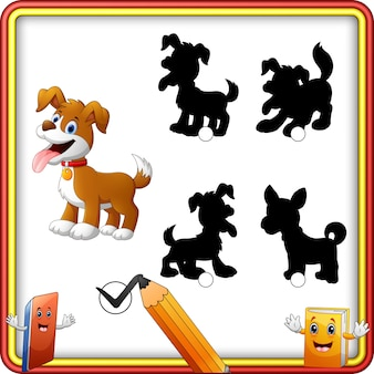Shadow matching of dog cartoon