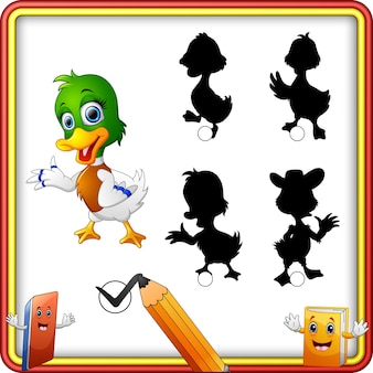 Shadow matching of duck cartoon