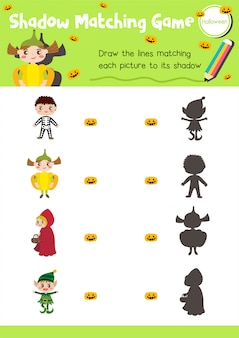 Shadow matching game halloween