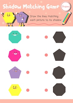 Shadow matching game shape