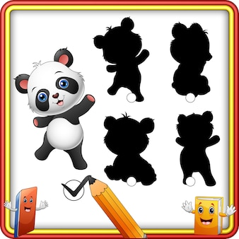 Shadow matching of panda game